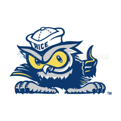 Rice Owls Logo T-shirts Iron On Transfers N5987