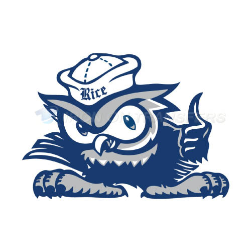 Rice Owls Logo T-shirts Iron On Transfers N5991