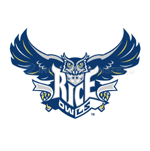 Rice Owls Logo T-shirts Iron On Transfers N5995