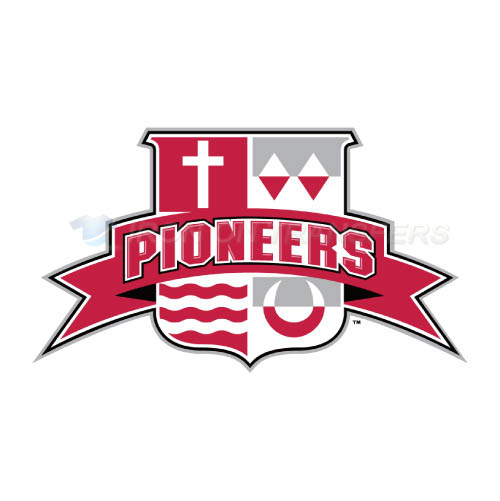 Sacred Heart Pioneers Logo T-shirts Iron On Transfers N6064