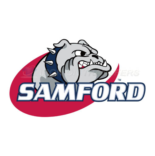 Samford Bulldogs Logo T-shirts Iron On Transfers N6090