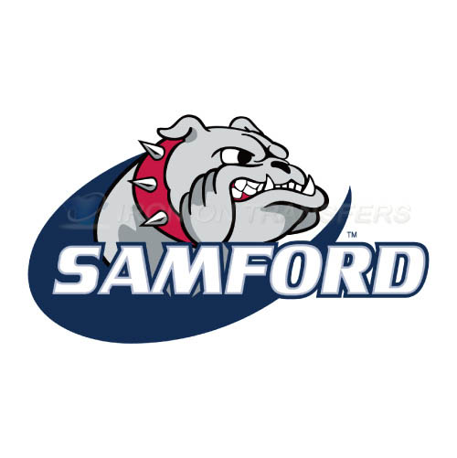 Samford Bulldogs Logo T-shirts Iron On Transfers N6092