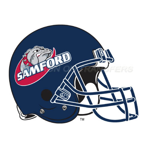 Samford Bulldogs Logo T-shirts Iron On Transfers N6094