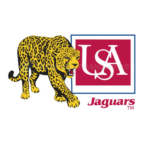 South Alabama Jaguars Logo T-shirts Iron On Transfers N6187