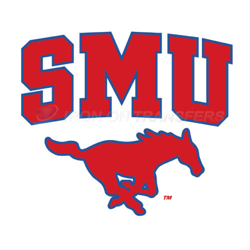Southern Methodist Mustangs Logo T-shirts Iron On Transfers N628