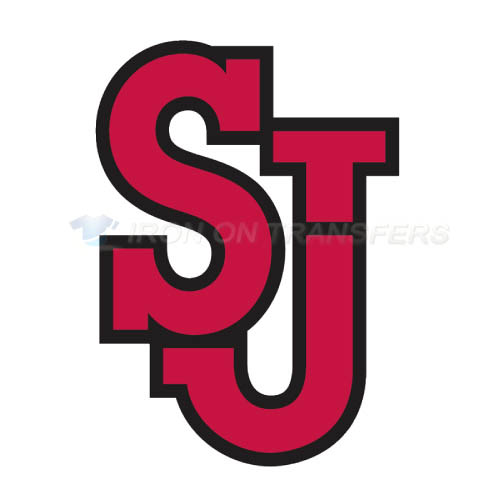 St. Johns Red Storm Logo T-shirts Iron On Transfers N6346
