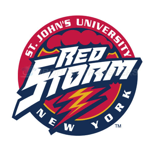 St. Johns Red Storm Logo T-shirts Iron On Transfers N6360