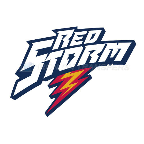 St. Johns Red Storm Logo T-shirts Iron On Transfers N6363