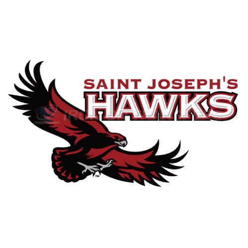 St. Josephs Hawks Logo T-shirts Iron On Transfers N6368