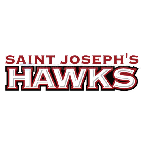St. Josephs Hawks Logo T-shirts Iron On Transfers N6369