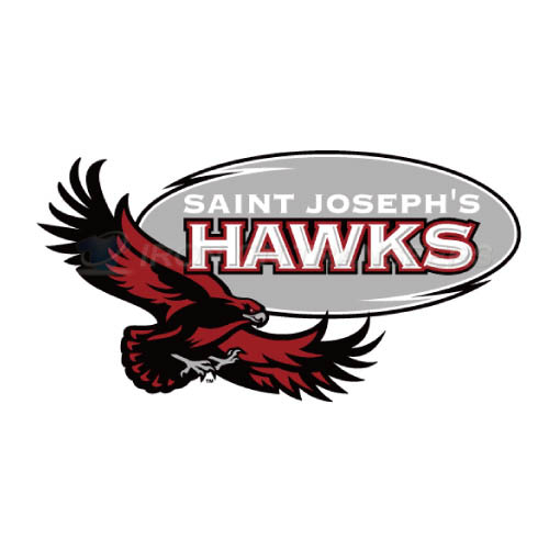 St. Josephs Hawks Logo T-shirts Iron On Transfers N6370