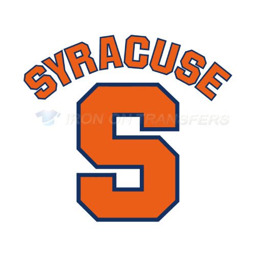 Syracuse Orange Logo T-shirts Iron On Transfers N6414