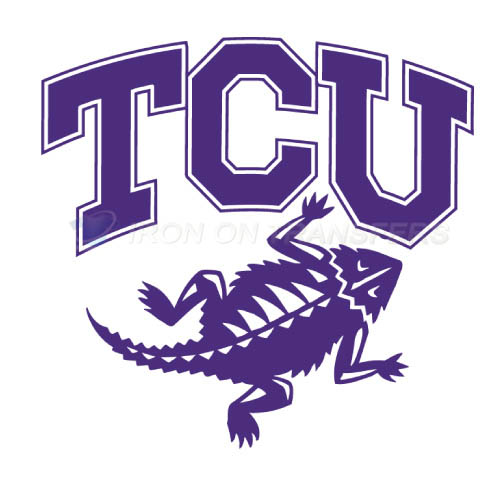 TCU Horned Frogs Logo T-shirts Iron On Transfers N6427