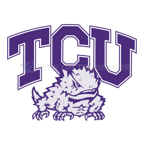 TCU Horned Frogs Logo T-shirts Iron On Transfers N6428