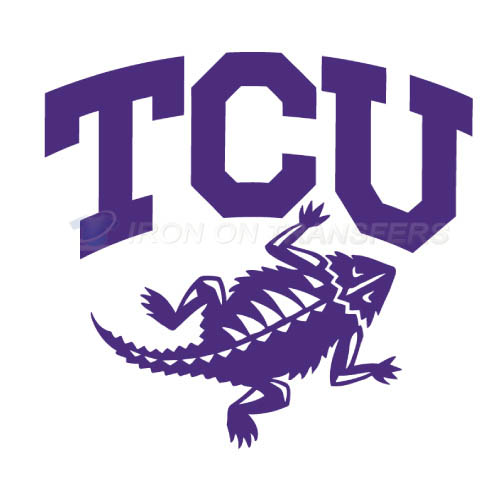 TCU Horned Frogs Logo T-shirts Iron On Transfers N6429