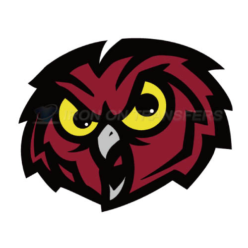 Temple Owls Logo T-shirts Iron On Transfers N6444