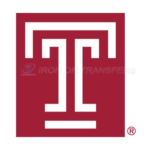 Temple Owls Logo T-shirts Iron On Transfers N6446