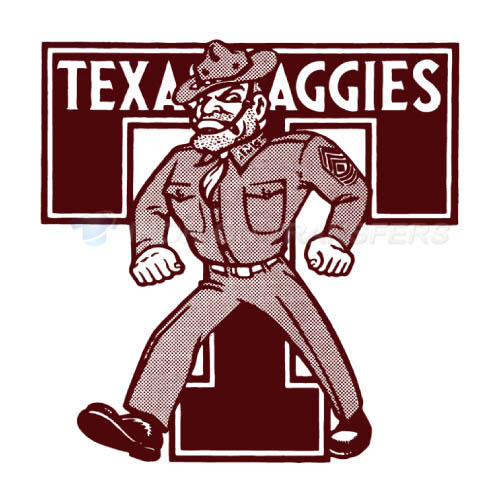 Texas A M Aggies Logo T-shirts Iron On Transfers N6496