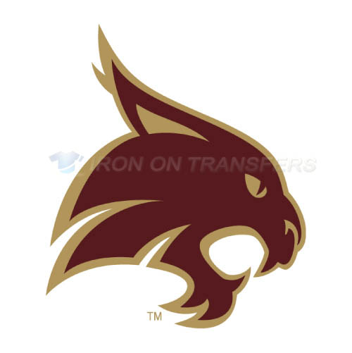 Texas State Bobcats Logo T-shirts Iron On Transfers N6549