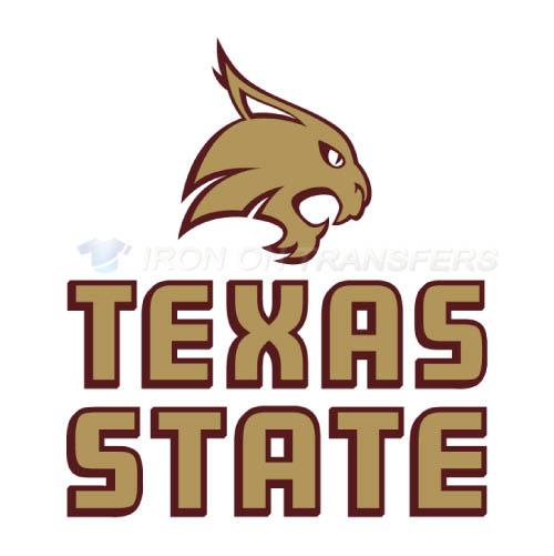 Texas State Bobcats Logo T Shirts Iron On Transfers N6551