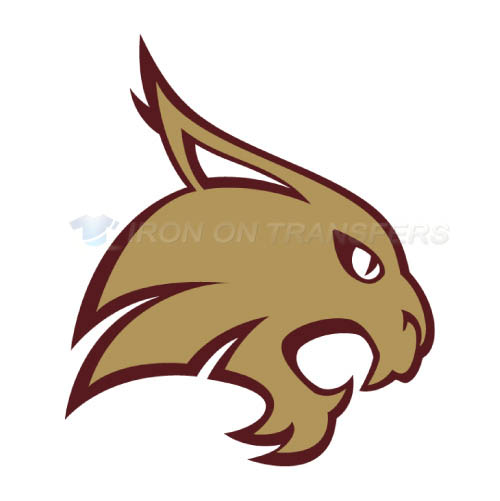 Texas State Bobcats Logo T-shirts Iron On Transfers N6552