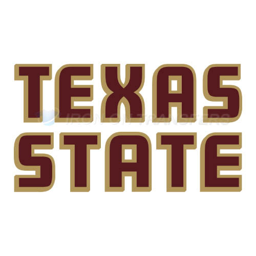 Texas State Bobcats Logo T-shirts Iron On Transfers N6554