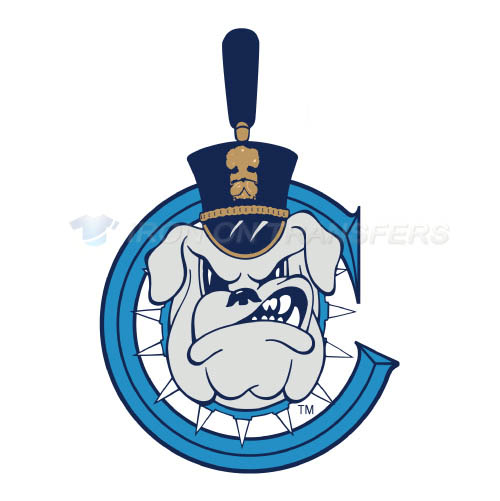 The Citadel Bulldogs Logo T-shirts Iron On Transfers N6567