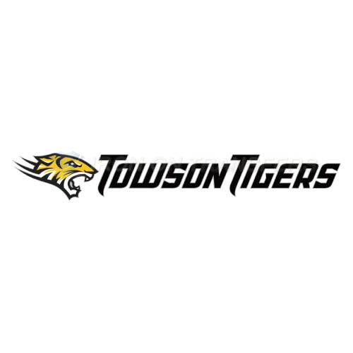 Towson Tigers Logo T-shirts Iron On Transfers N6580