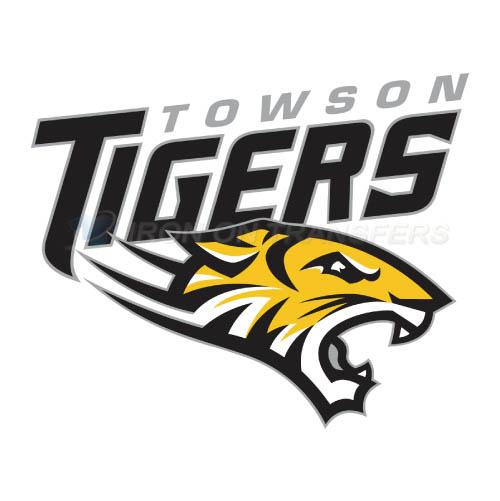 Towson Tigers Logo T-shirts Iron On Transfers N6584