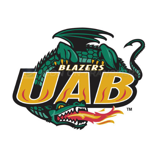 UAB Blazers Logo T-shirts Iron On Transfers N6630
