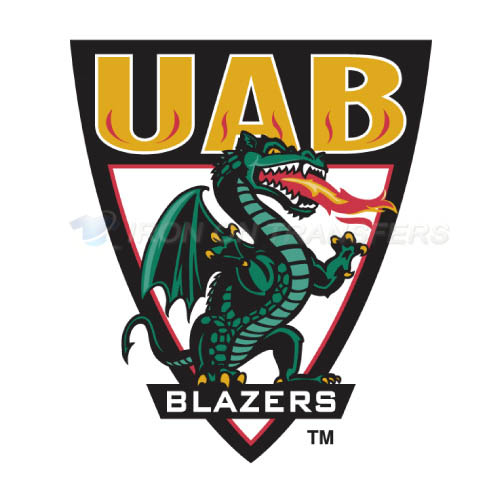 UAB Blazers Logo T-shirts Iron On Transfers N6634