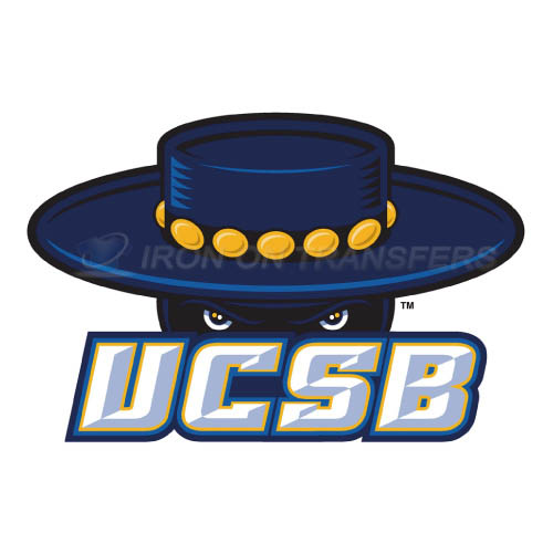 UCSB Gauchos Logo T-shirts Iron On Transfers N6673