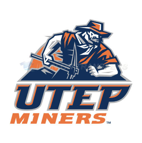 UTEP Miners Logo T-shirts Iron On Transfers N6766