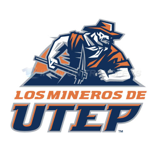 UTEP Miners Logo T-shirts Iron On Transfers N6767