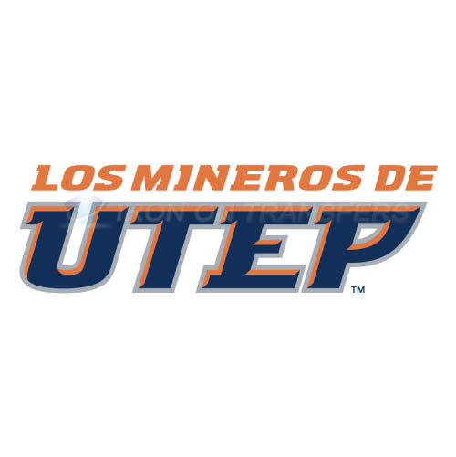 UTEP Miners Logo T-shirts Iron On Transfers N6772