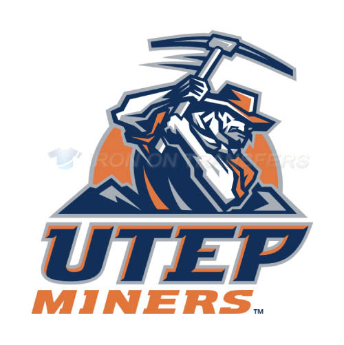 UTEP Miners Logo T-shirts Iron On Transfers N6774