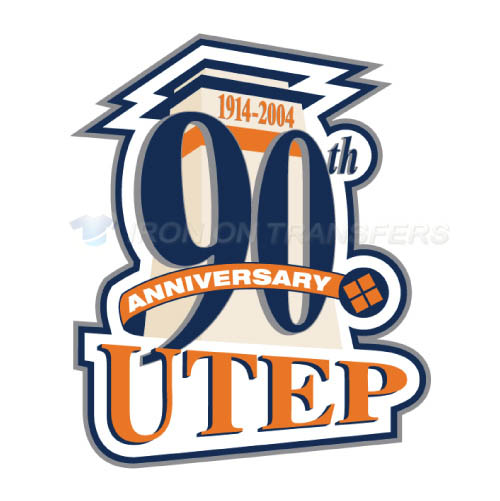 UTEP Miners Logo T-shirts Iron On Transfers N6777
