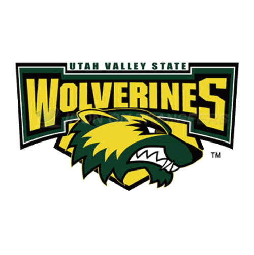 Utah Valley Wolverines Logo T-shirts Iron On Transfers N6762