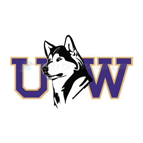 Washington Huskies Logo T-shirts Iron On Transfers N6889