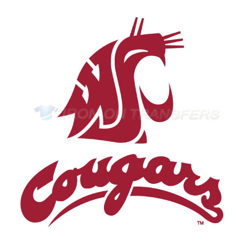 Washington State Cougars Logo T-shirts Iron On Transfers N6905