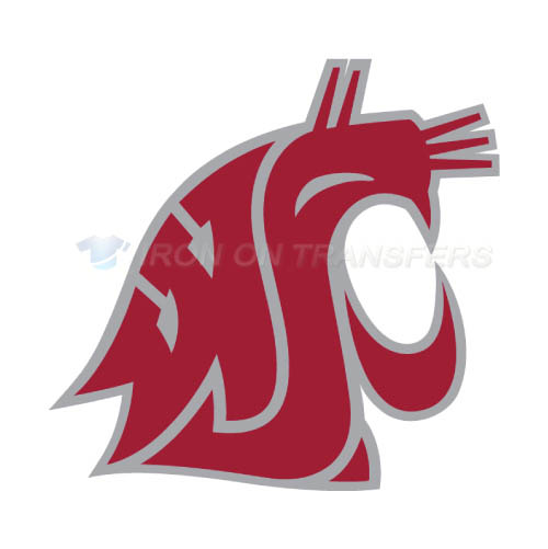 Washington State Cougars Logo T-shirts Iron On Transfers N6906