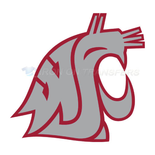 Washington State Cougars Logo T-shirts Iron On Transfers N6912