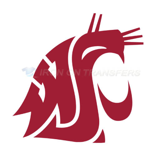 Washington State Cougars Logo T-shirts Iron On Transfers N6913
