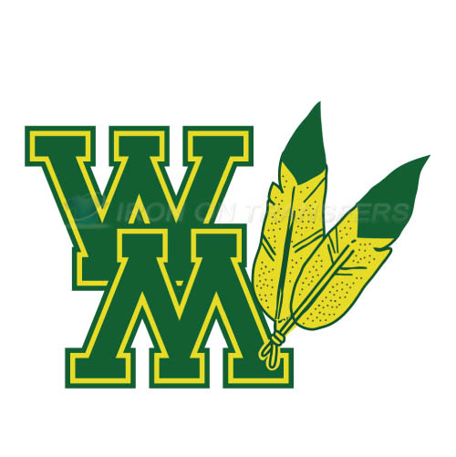 William and Mary Tribe Logo T-shirts Iron On Transfers N7003