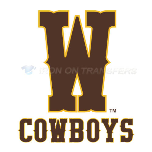 Wyoming Cowboys Logo T-shirts Iron On Transfers N7068
