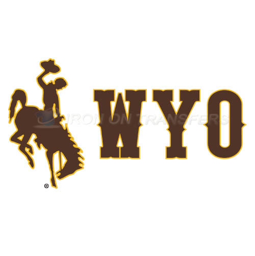 Wyoming Cowboys Logo T-shirts Iron On Transfers N7069