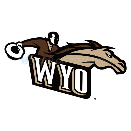 Wyoming Cowboys Logo T-shirts Iron On Transfers N7072